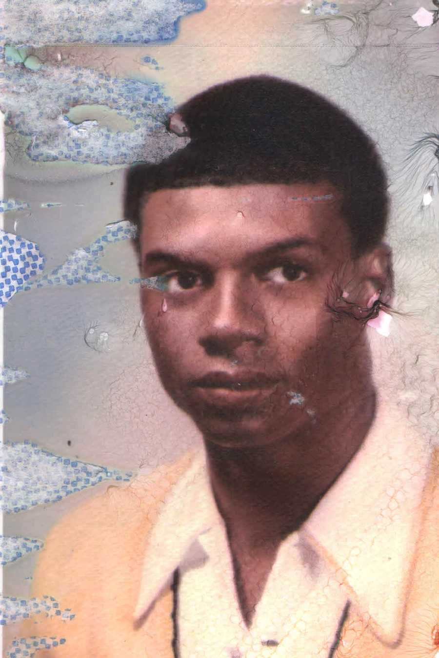 Norman Robinson's high school photo when he was in Boston, Mass. This is a photo of him at 16 years old.