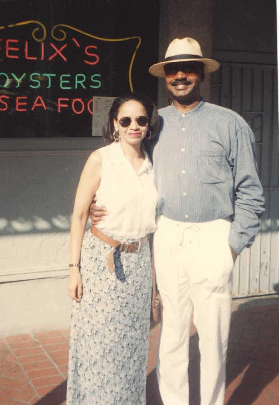 1995: Norman in the French Quarter with his wife.