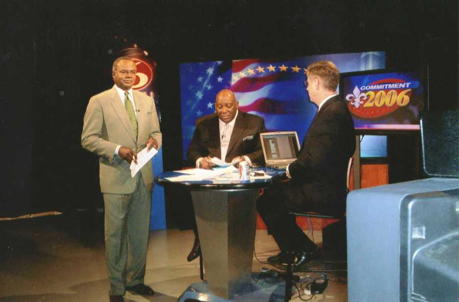 2006: Norman covering election night.