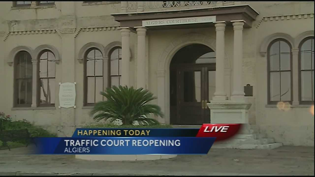 Wednesday the traffic court in Algiers is opening after being closed for several years.