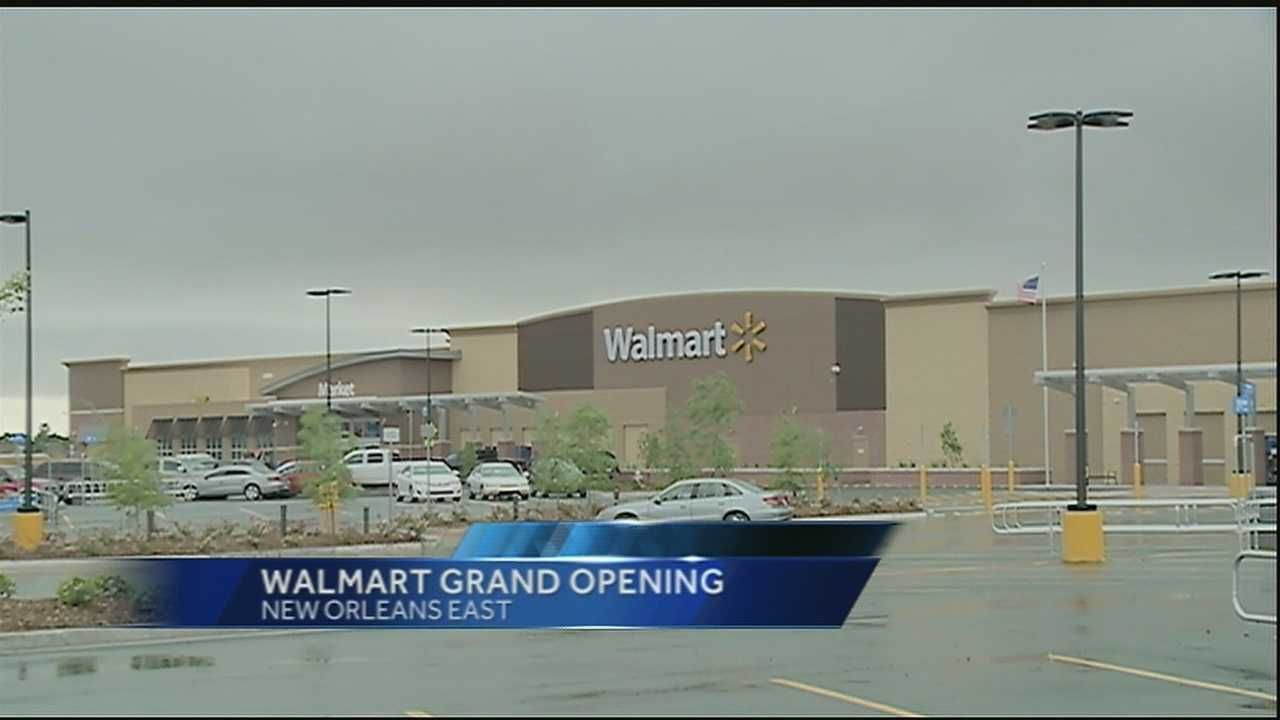 A brand-new Walmart is New Orleans East is opening its doors Wednesday.