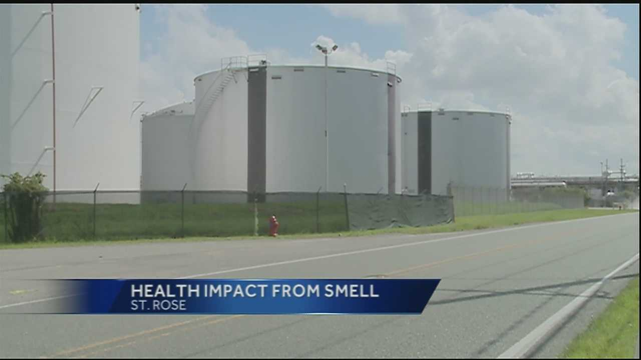 Residents in St. Rose took their concerns over an odor that has permeated in the area for 12 days to the governor's office.