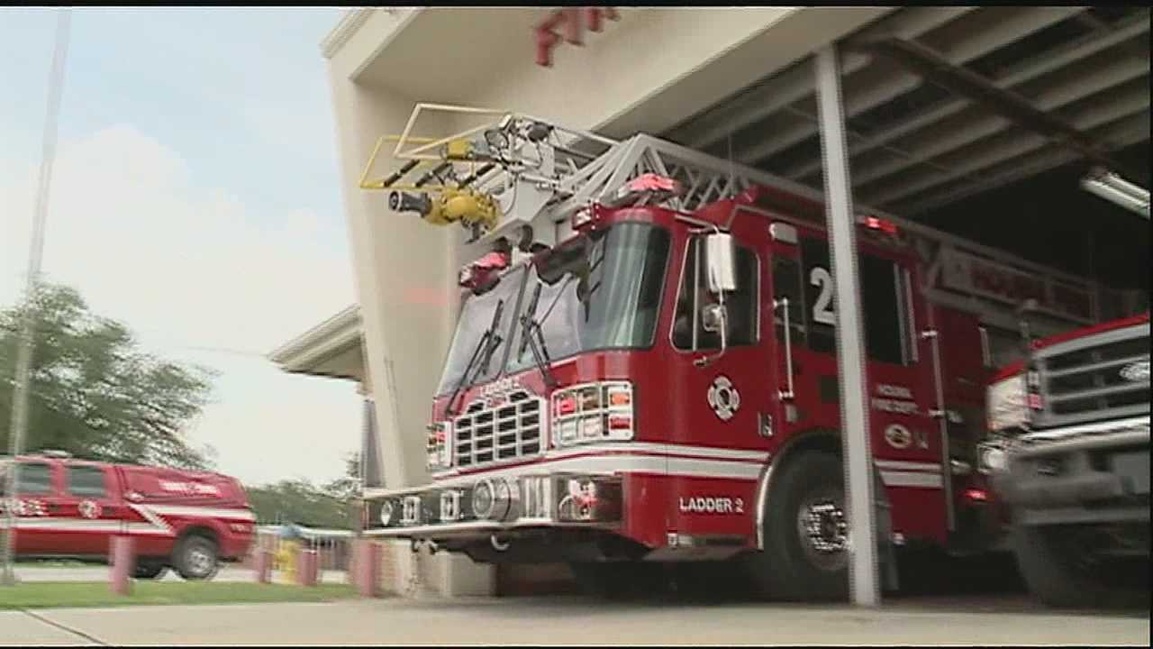 Monday, lightning kept fire crews busy in Houma.