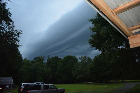 User: Mom2girls13Description: Storm approaching just before dark in the Evans Creek Community.