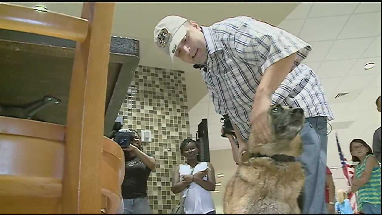 It's a reunion two years in the making. An Iraq veteran and his military K9 partner were reunited Thursday.