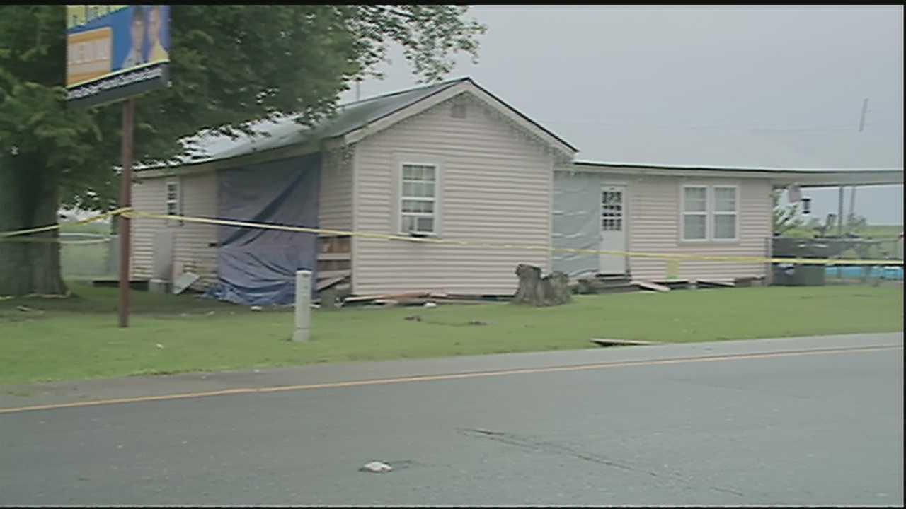 Authorities said a sleeping toddler was killed after a car crashed through the home early Friday morning in Shriever, Louisiana.