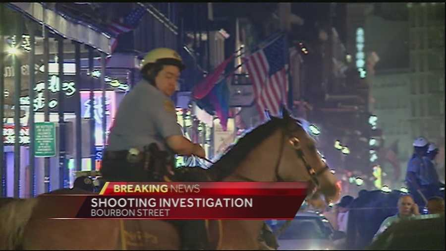 New Orleans police are investigating a shooting on Bourbon Street. Nine people were injured in the gunfire, police said.
