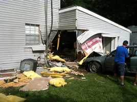 The driver was unharmed.