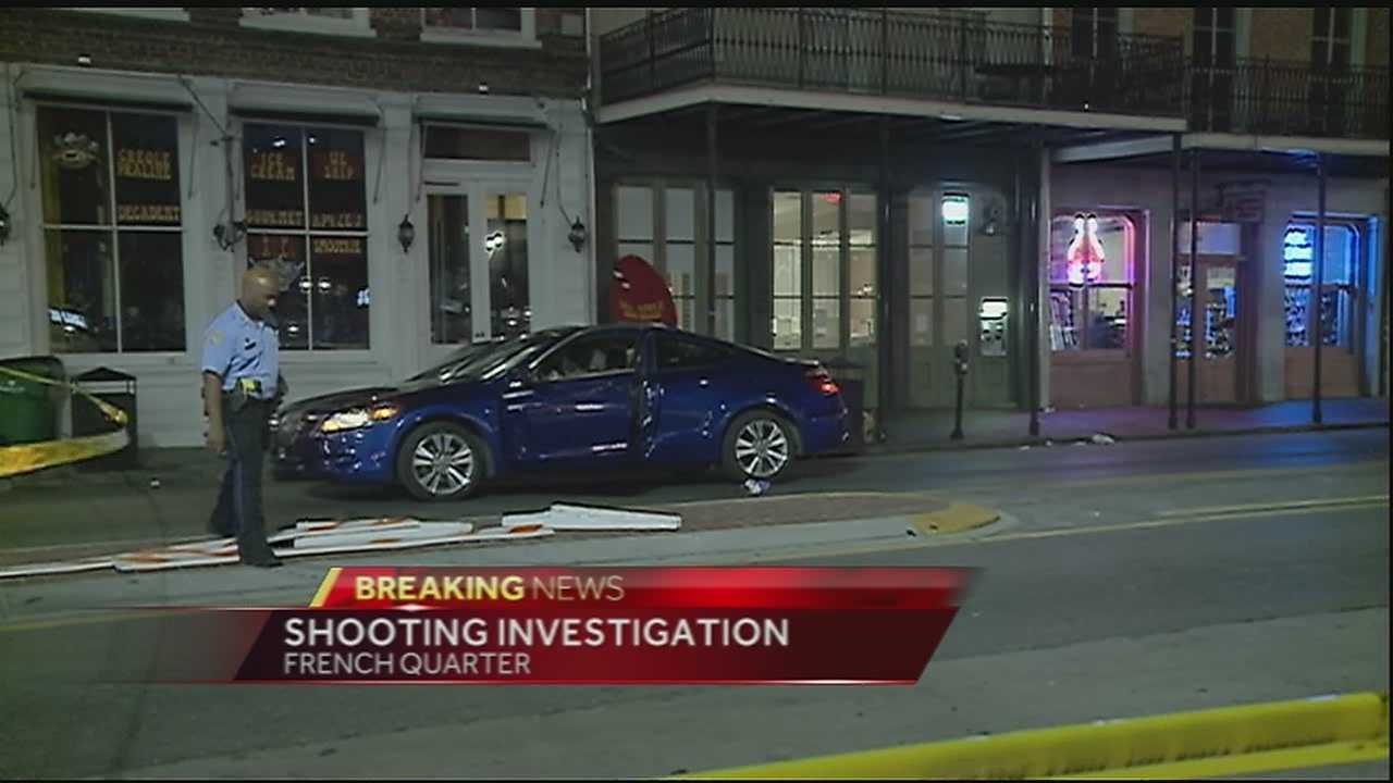 One man was injured in a Monday morning shooting in the French Quarter.