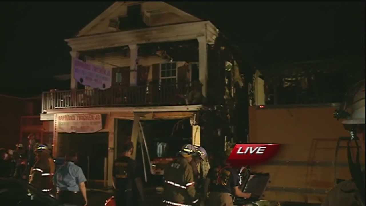 New Orleans firefighters had a busy Wednesday morning battling a 3-alarm blaze Uptown.