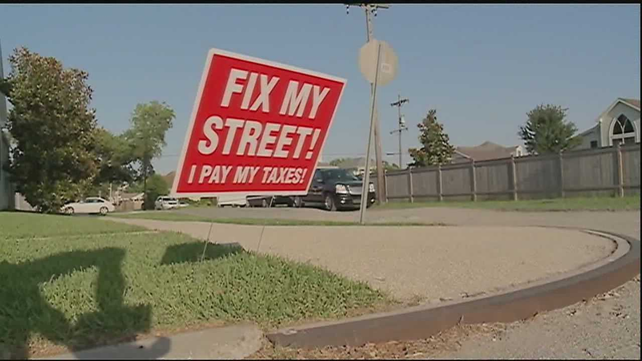 People living in Lakeview are doing what they can to drive home the message that their streets are badly in need of repairs. They are having their own community meeting Tuesday to highlight to growing problem.