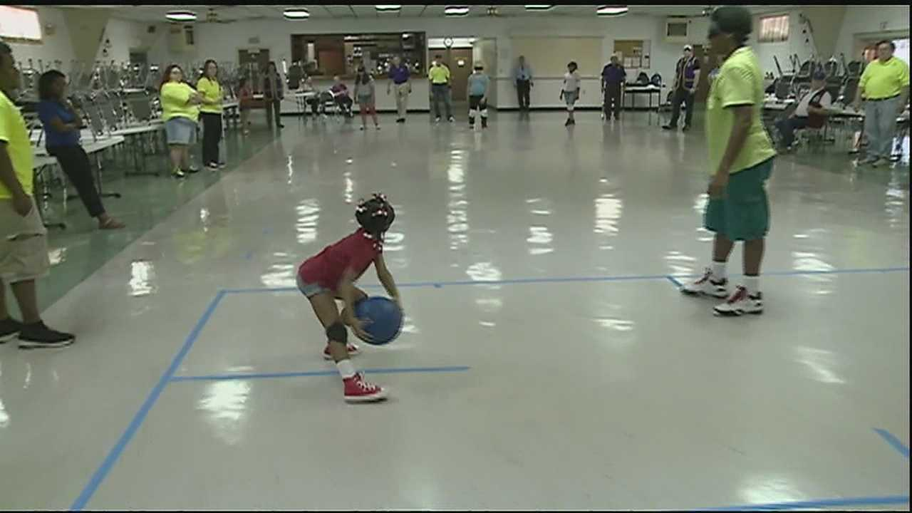 The visually impaired in New Orleans enjoy playing a new sport.