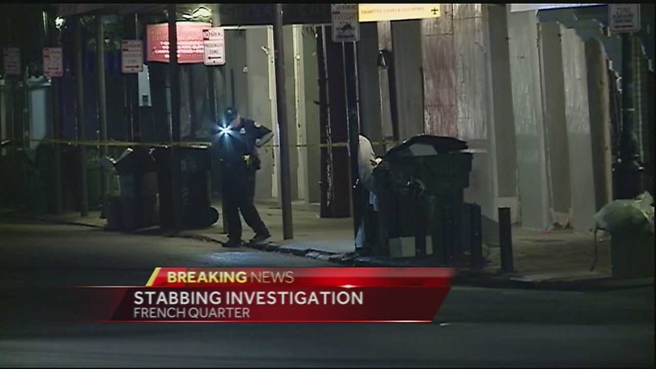 A man was stabbed in the French Quarter Friday morning after walking out of a bar on Decatur Street.