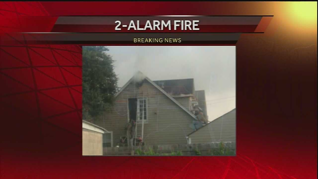 New Orleans firefighters battled a fire near Lakeview Tuesday morning.