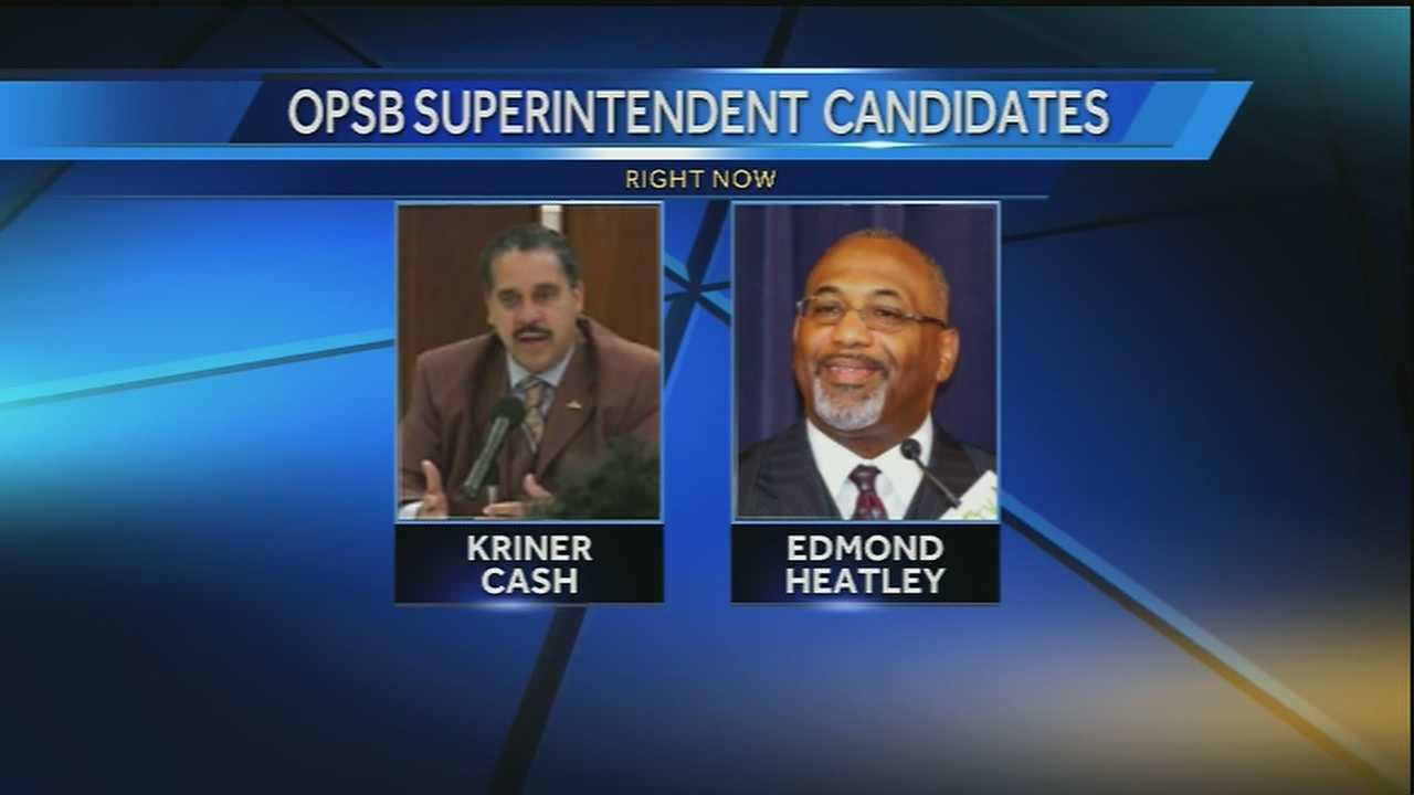 The school board is voting for a new leader of the Orleans Parish School Board.