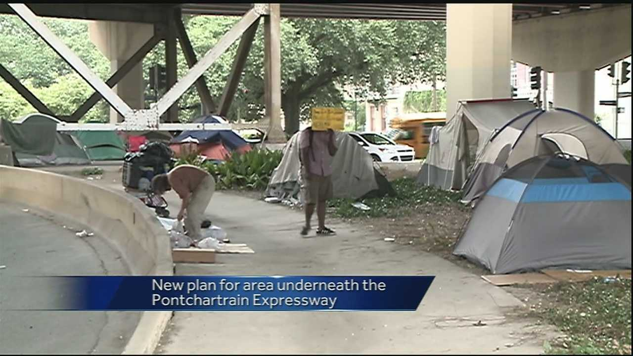 The city of New Orleans announced plans to redevelop the area where homeless encampments were popping up under the Pontchartrain Expressway.