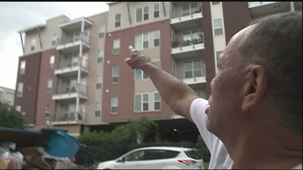 A man shot when he mistakenly attempted to enter a wrong apartment in New Orleans, speaks about the incident.
