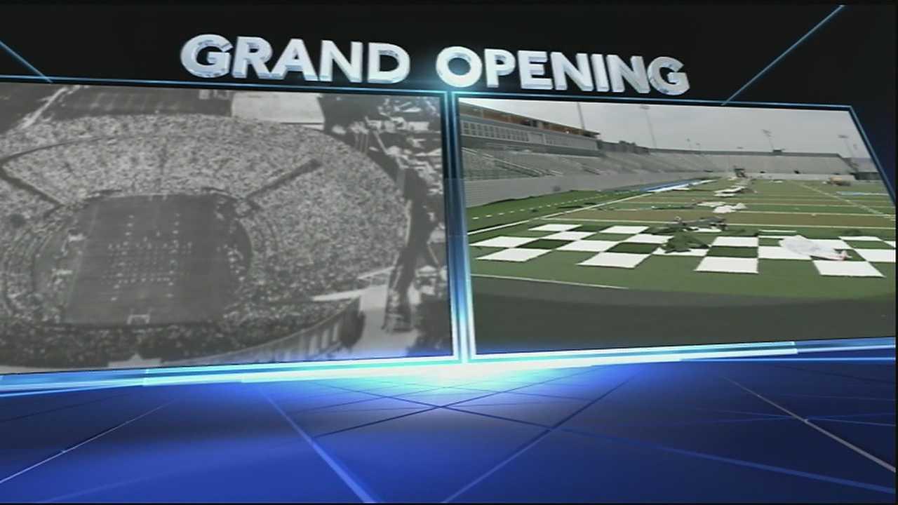 Grand opening today. Kickoff at 3 tomorrow