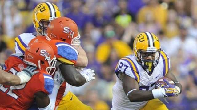 The LSU Tigers improved to 2-0 on the young season with a thrashing of Sam Houston State University in Baton Rouge.