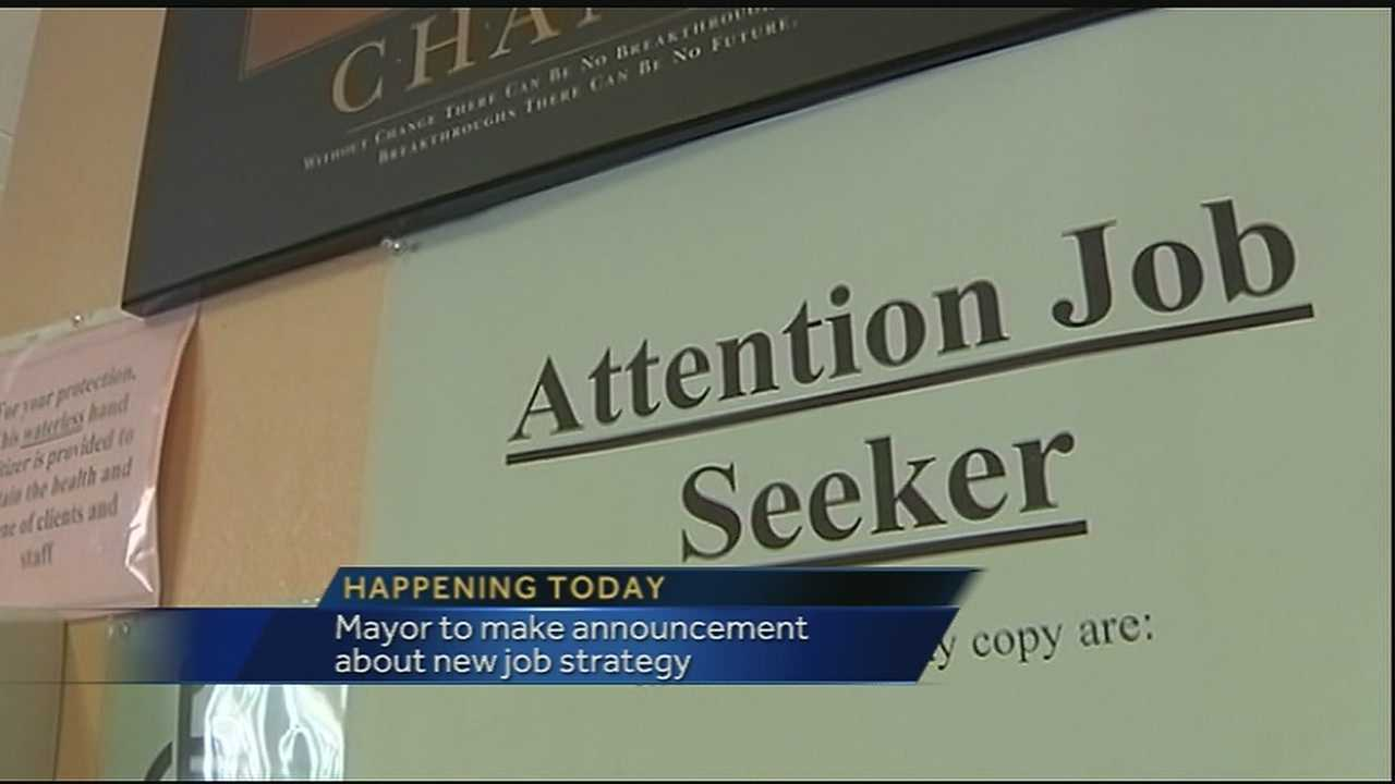 Mayor Mitch Landrieu will announce a new strategy to put people to work Monday. The mayor said he's interested in economic opportunities for disadvantaged job seekers here in the Crescent City.