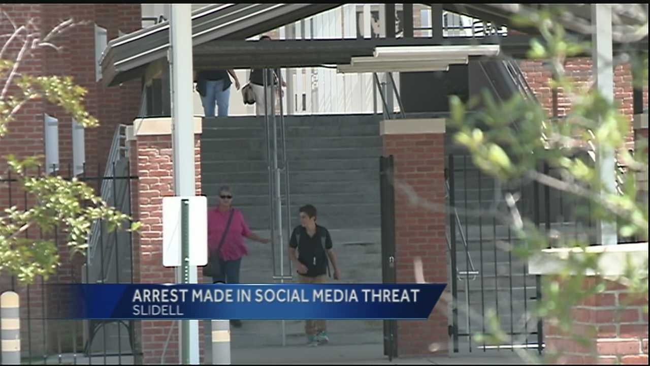 Investigators with the Slidell Police Department arrested a 16-year-old boy who was responsible for making the social media threats toward Salmen High School. His identity was not released at this time.