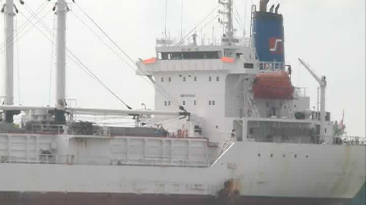 Raw Video: African ship moving from Belle Chasse to New Orleans