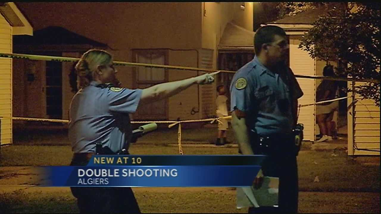 New Orleans police are investigating a double shooting Friday night in Algiers.