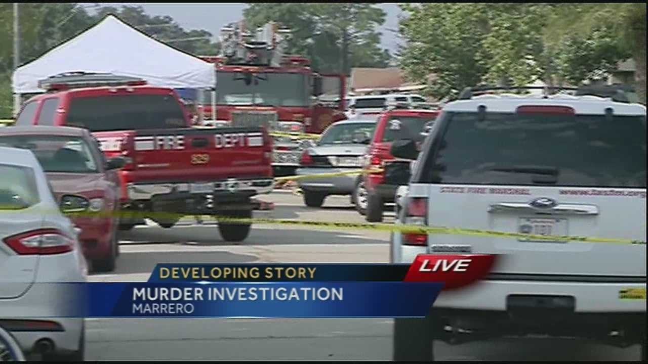 Authorities with the Jefferson Parish Sheriff's Office are investigating the scene of a homicide and attempted suicide in Marrero.