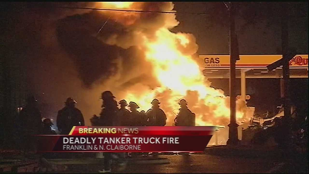 A tanker truck driver was killed Friday morning after his truck exploded sending flames shooting hundreds of feet in the air. It happened at a gas station located at the intersection of Franklin and North Claiborne Avenues.