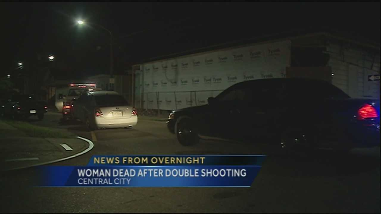 New Orleans police say a woman is dead and a man is in the hospital after a shooting Friday night on Baronne and Second Street.