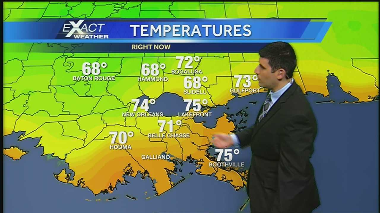 Temps warm today and tomorrow, but another cool down comes Monday night
