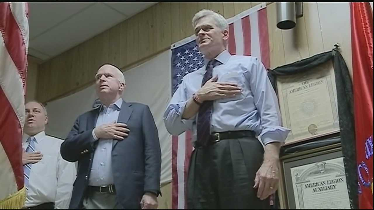 Arizona Sen. John McCain is campaigning for Congressman Bill Cassidy, one of two republicans trying to unseat incumbent democrat Senator Mary Landrieu.
