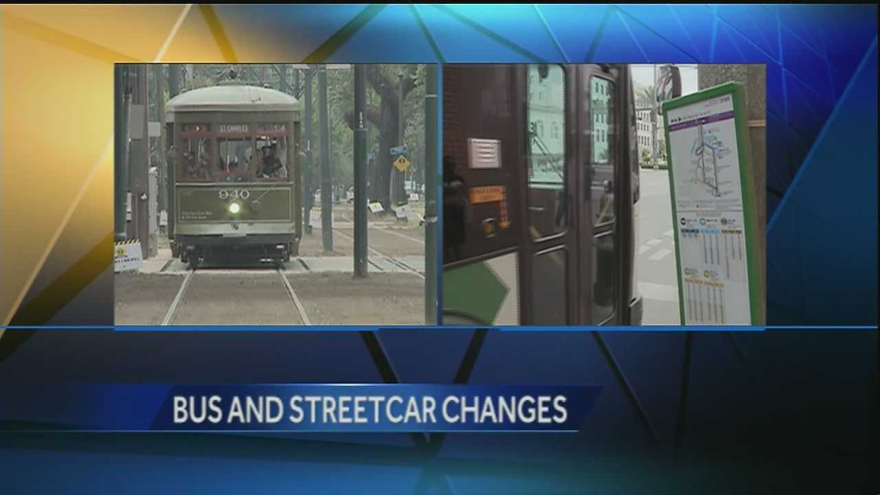 Buses running same schedule as streetcars.
