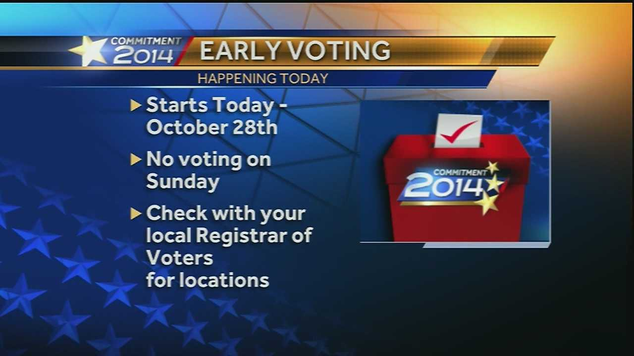 We're on your side with where you can cast your ballots early for the mid-term elections.