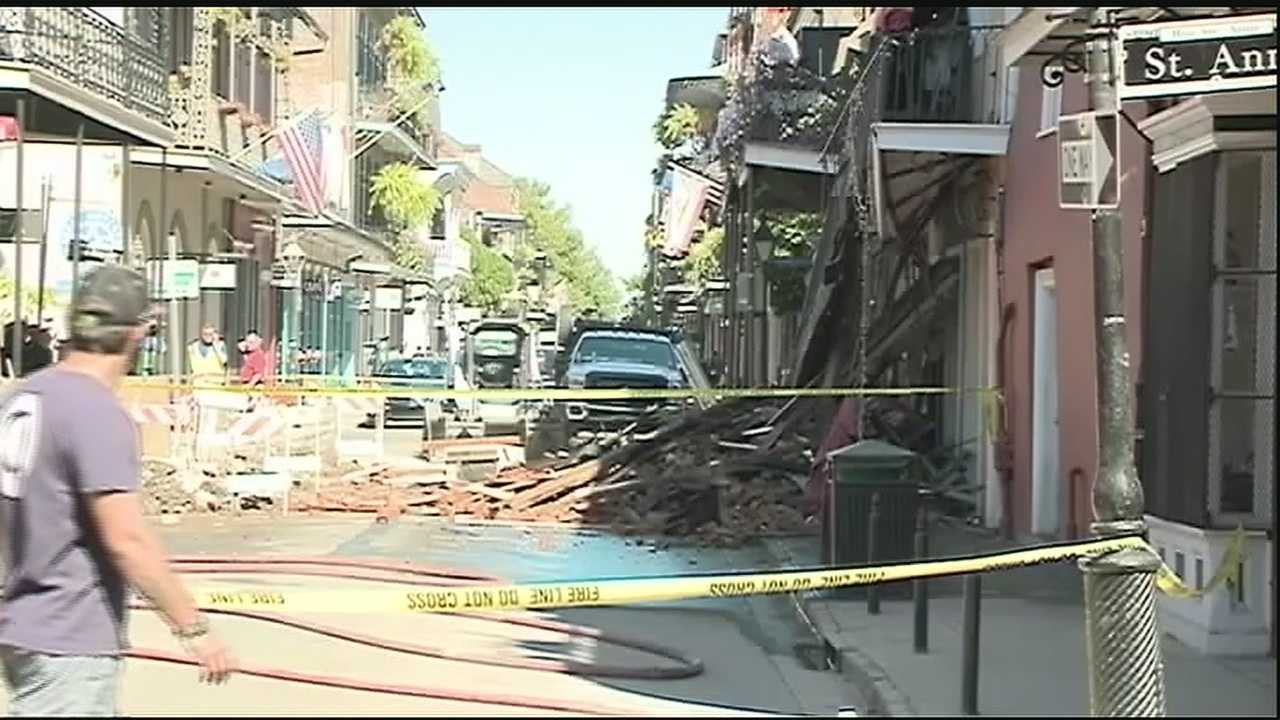 A building older than 200 years in the French Quarter collapsed on Wednesday after it partially collapsed on Tuesday.