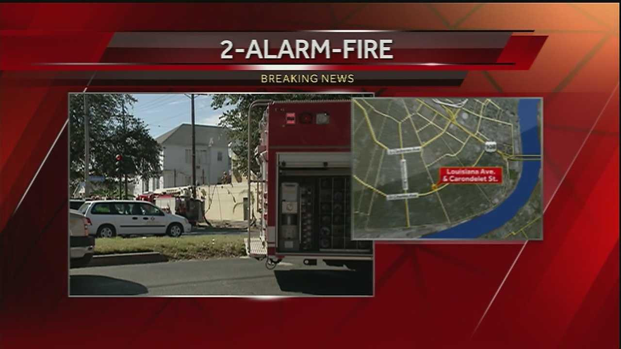 New Orleans firefighters battle a 2-alarm fire in the Milan neighborhood.