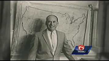 This is Nash Roberts. He gave you the weather for years on WDSU. He used a board and marker and a chalk-written daily forecast.