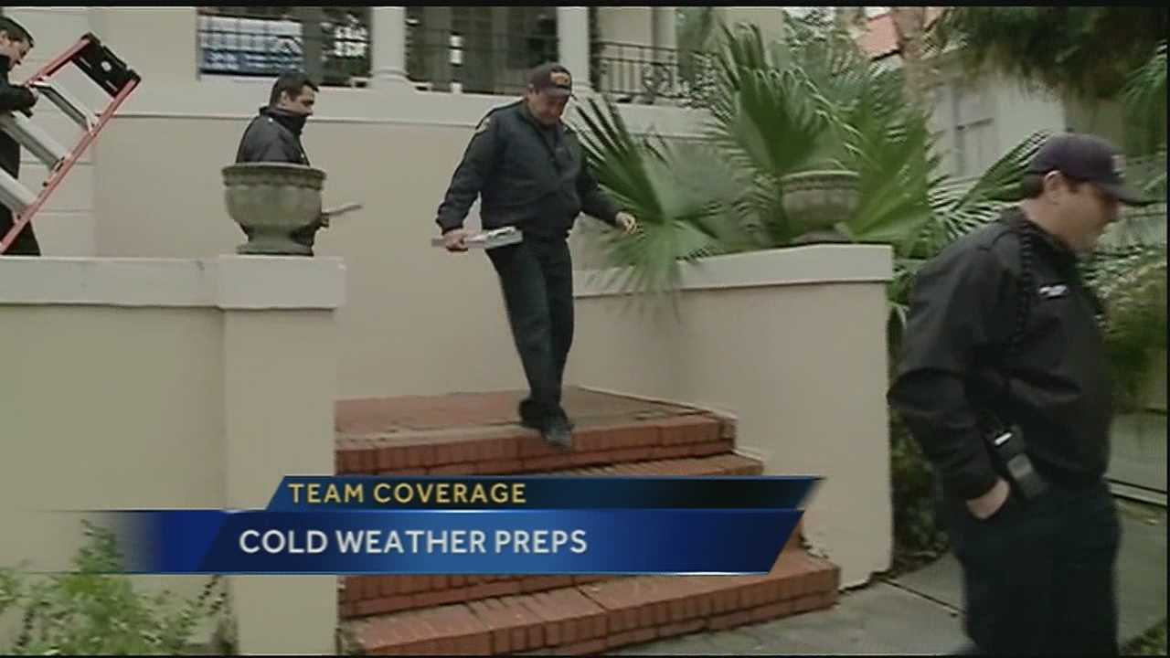 Temperatures are continuing to drop Thursday and city leaders in New Orleans are taking steps to keep the less fortunate warm.