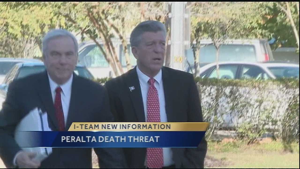 There is new information in an I-Team investigation regarding an alleged death threat against St. Bernard Parish President Dave Peralta. Authorities say that a parish employee suspected Peralta of having an affair with his wife. The man, who earlier had been found carrying a gun, was later found again with a weapon. Authorities say the man then threatened to commit suicide and was taken to a local hospital.