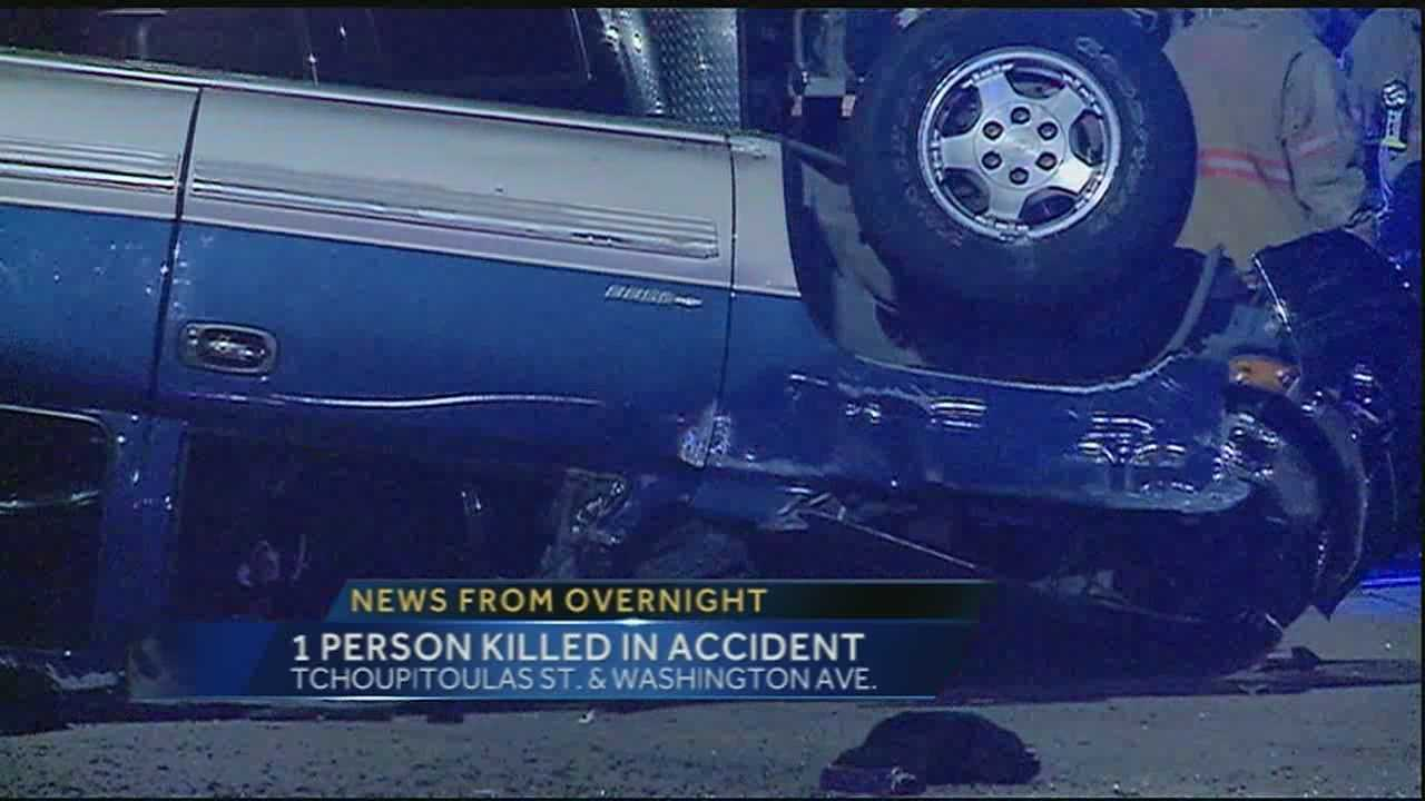 One person is dead after an accident Monday morning Uptown.