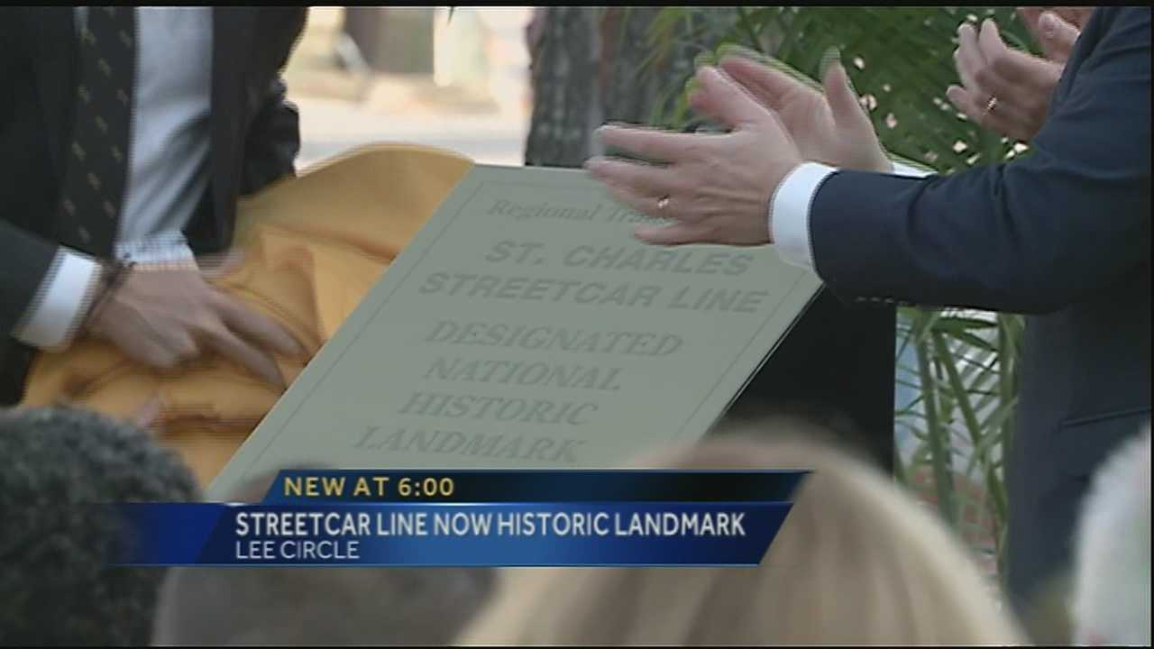 The New Orleans Streetcar line has been added to the National Historic Landmark list.