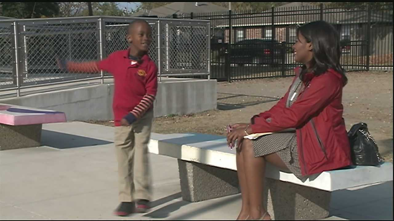 A 6-year-old boy is making a grass roots push for a playground at his school.