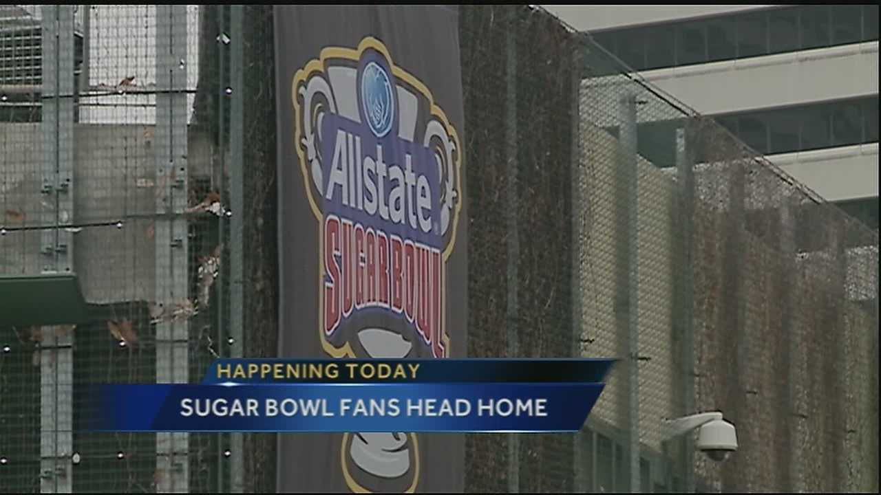 It was only a few days ago when tens of thousands of college football fans flocked to the Big Easy for the 81st annual Allstate Sugar Bowl, but today hotels are prepping for the crowds departure.