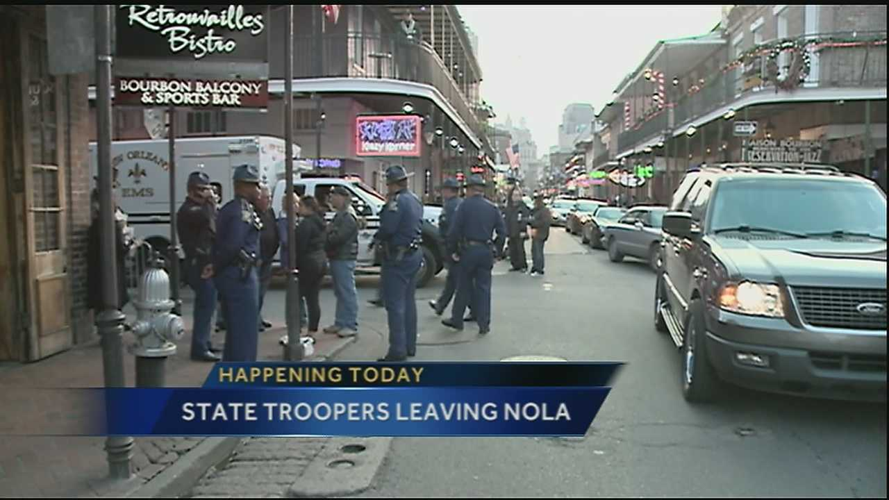 Dozens of troopers have been deployed to handle the extra crowds for New Years and for the Sugar Bowl, and Mayor Mitch Landrieu wants them to stay longer.