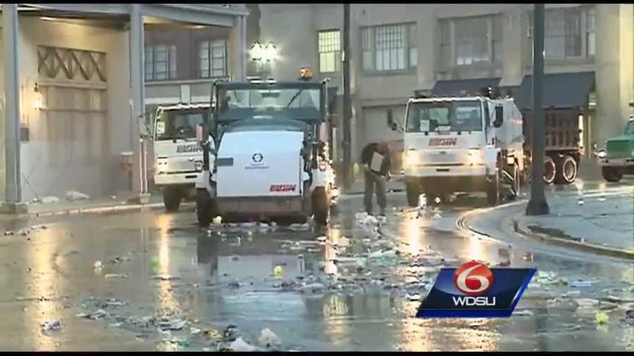 Cleanup efforts from Carnival 2014