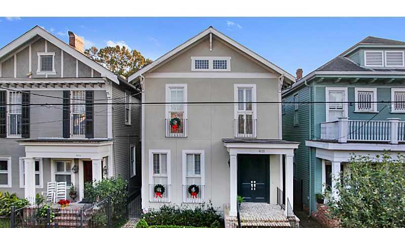 Four-bedroom Uptown home located at 4618 Carondelet Street and on the market for $1,395,000. Contact Gardner Realtors for more information at 504-887-7878.