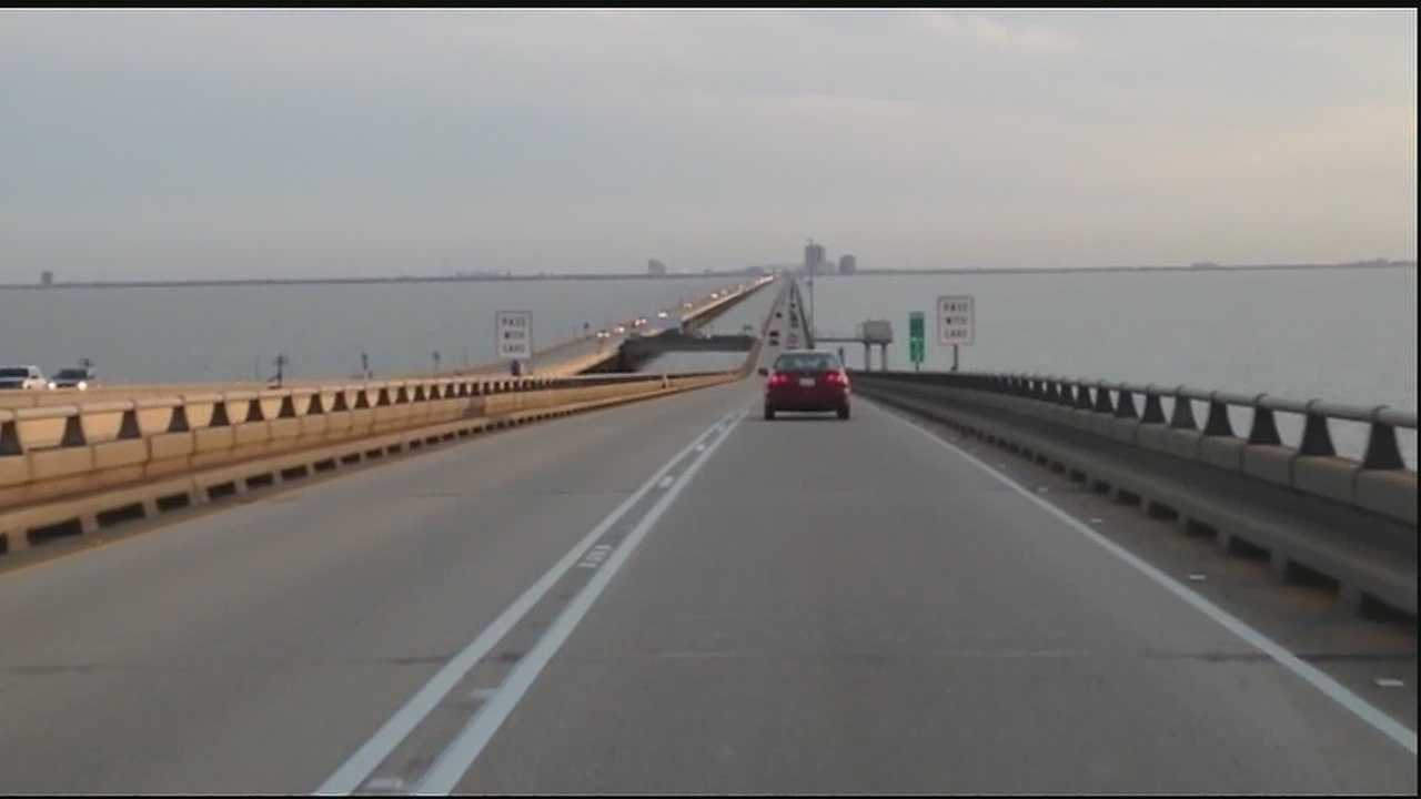 Louisiana Rep. Tim Burns wants to ban cellphones on the Causeway in an effort to make the bridge safer.