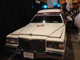 Ecto 1 from the Louisiana Ghostbusters.