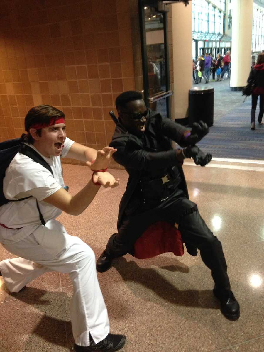 Blade from the Marvel Comics book and Ryu from the videogame Street Fighter.