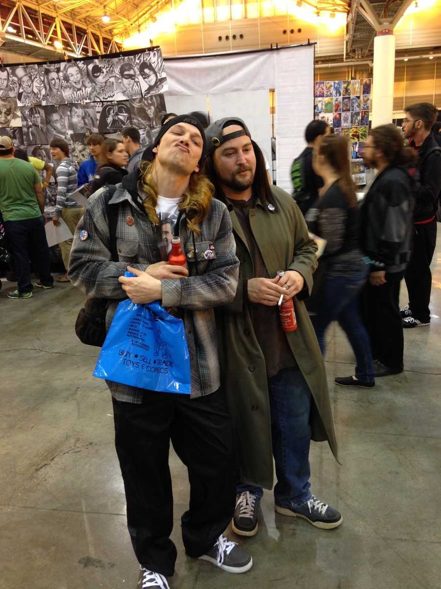 Jay and Silent Bob from the Kevin Smith films.